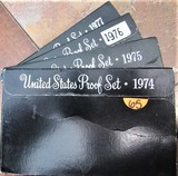 1974, 75, 76, 77 United States Proof Sets