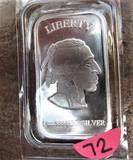 1 oz .999 Fine Silver Bar