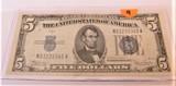 1934 $5 Silver Certificate