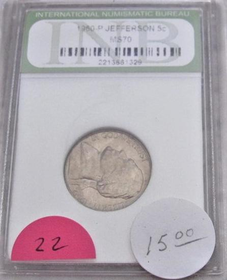 1960-P Jefferson Nickel MS70