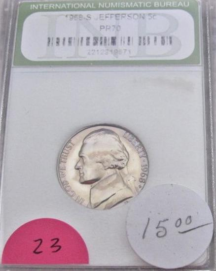 1968-S Jefferson Nickel PR70