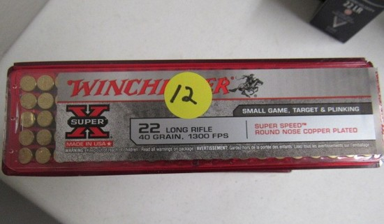 (8) boxes Winchester 22  LR Plated Long Nose Bullets
