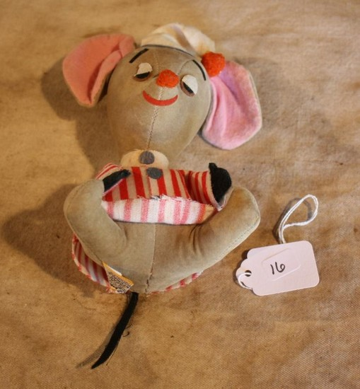 Vintage Dream Pets Pink/Grey Mouse Toy