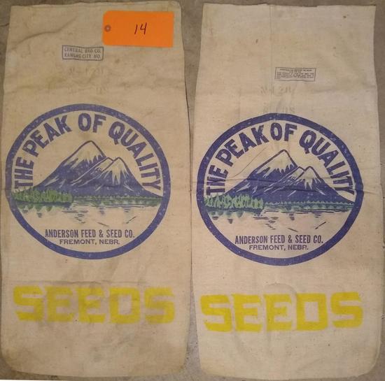2 Anderson Seed/Feed Sacks