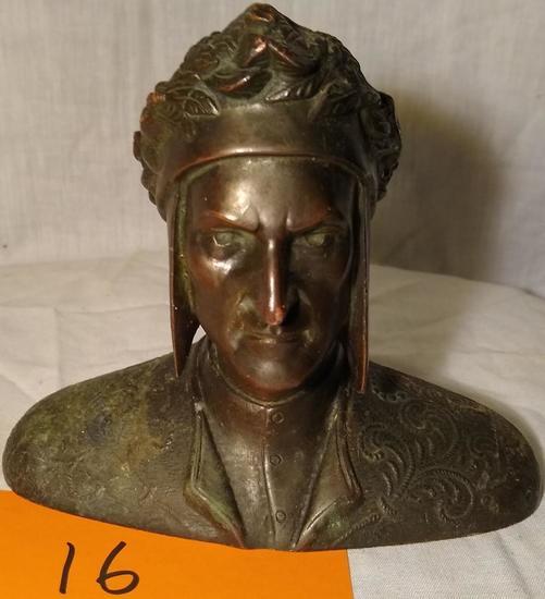 Dante Bronze Sculpture
