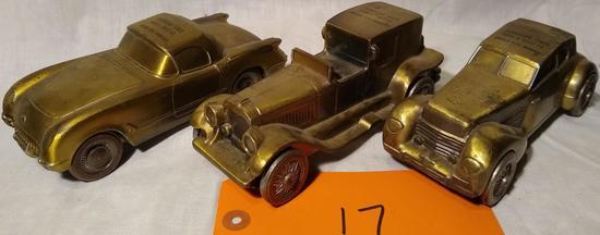 3 Metal Banthrico 1974 Car Banks-1953 Corvette