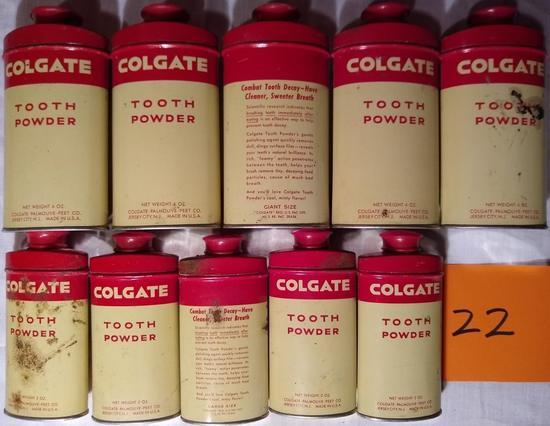 10 Colgate Tooth Powder Tins-Full