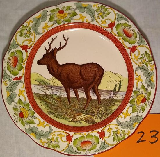 """Wedgewood -Etruria England 9.5"""" Red Stag Plate"""