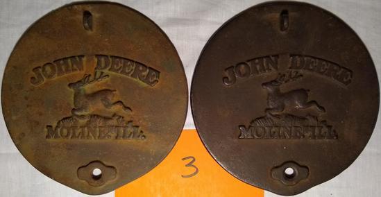 2 John Deere Cast Iron Planter Lids