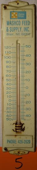 Adv. Thermometer-Purina Chow-Washco Feed