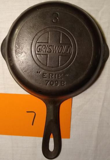 """No 3 Griswold Erie 709B 6"""" Skillet"""