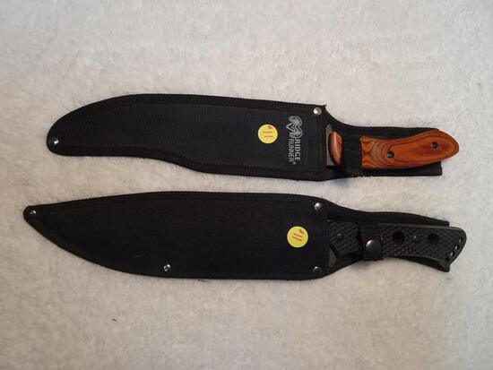 "Decorative Knives (2) Ridge Runner 15"", other 15"" total Length"