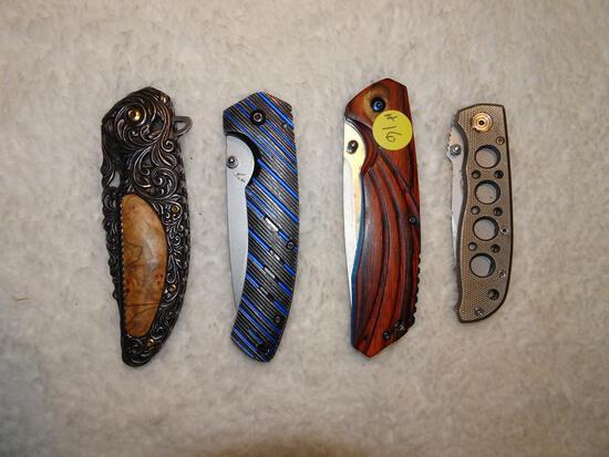 4 folding knives