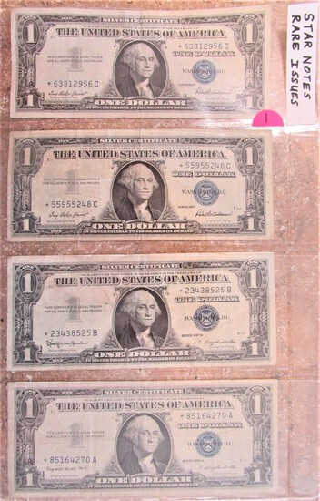 Four Star Notes - $1 on a Sheet