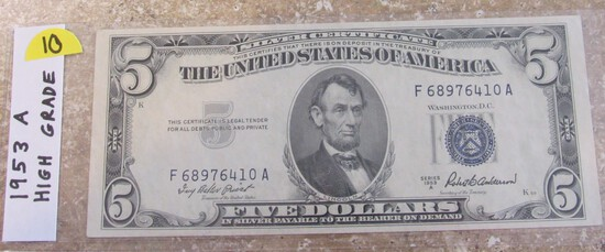 Star Note 1953 $5 Blue Seal