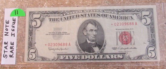 Star Note 1963 $5 Red Seal