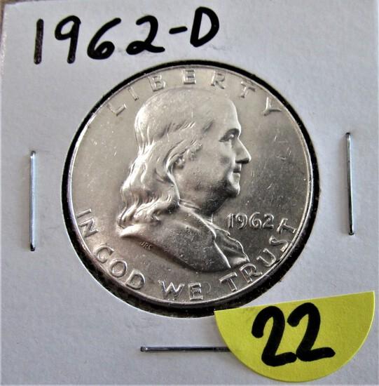 1962-D Franklin Half