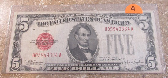1928 $5 US Note