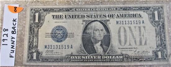 1928 Funnyback $1 Silver Certificate