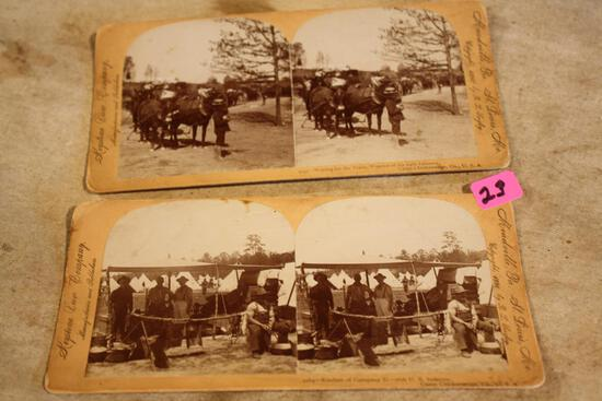 Two Antique Stereoview Cards