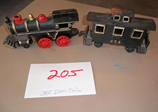 Case Iron Train and Caboose