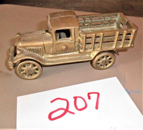 Cast Iron Gold Truck