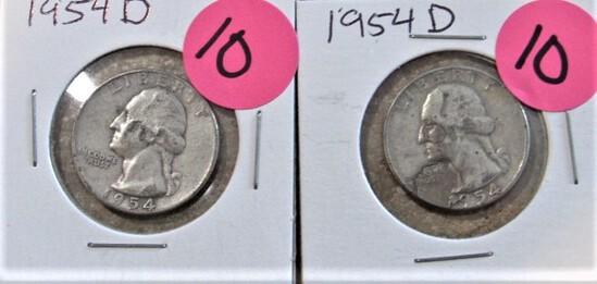 (2) 1954-D Quarters