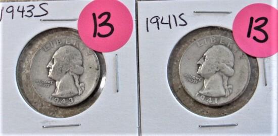 1941-S, 1943-S Quarters
