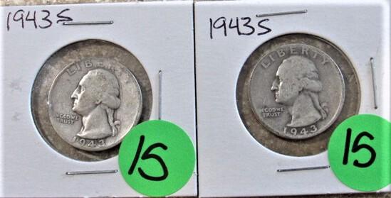 (2) 1943-S Quarters