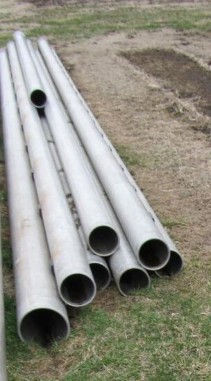 8 various lengths of irrigation pipe