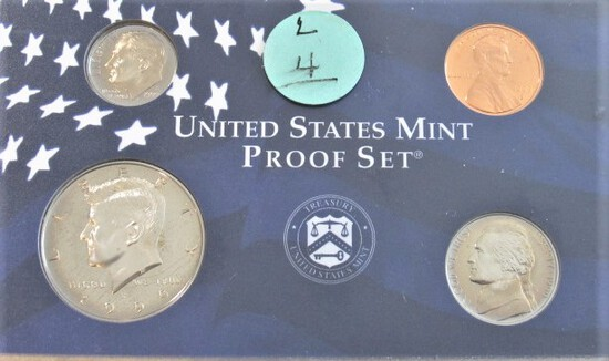 1999 Penny, Nickel, Dime, & Kennedy Proof