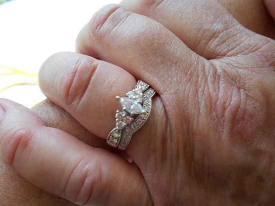 14K YG Wedding Ring Set approx 1 Karot