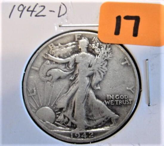 1942-D Walking Liberty Half