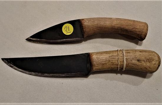"2 Handmade knives 8"" and 10"""