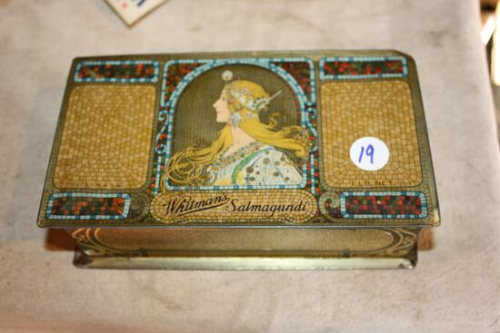 Antique Whitman's Salmagundi Tin, great colors