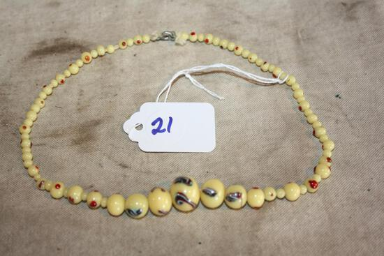 antique glass bead necklace and Great colors
