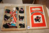 Hanko Japanese Doll with 6 wigs in the box