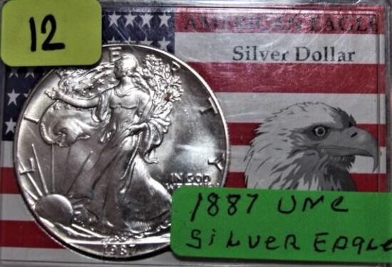 1887 American Eagle Silver Dollar