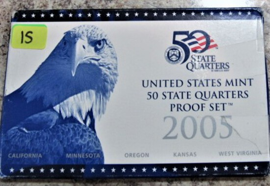 2005 United States Mint 50 State Quarters Proof Set