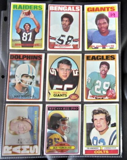 9 Football Cards