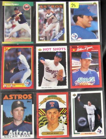 9 Nolan Ryan Baseball Cards