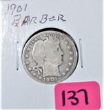 1901 Barber Quarter