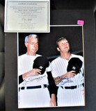 DiMaggio/Mantle Signed Photo Large Display