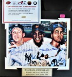 Snide/Mays/Mantle Signed Photo Large Display