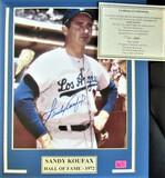 Sandy Koufax Signed Photo Large Display