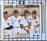 DiMaggio/Ford/Martin/Mantle Signed Photo Large Display