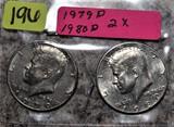 1979-D, 1980-D Kennedy Half Dollars