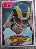Vince Ferragamo Rams Card # 239