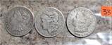1880-O, 1884-O, 1897-S Morgan Dollars