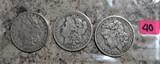 1883, 1884, 1888-O Morgan Dollars